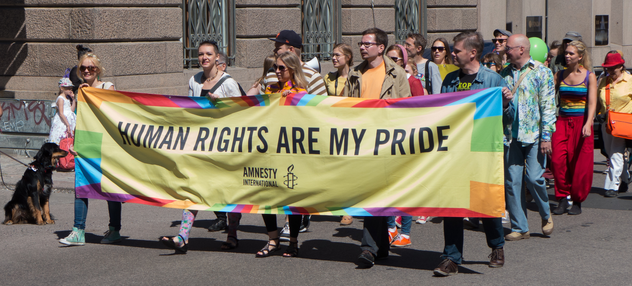Amnesty international: human rights are my pride